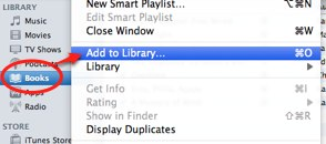 how to add epub books to ipad itunes 12